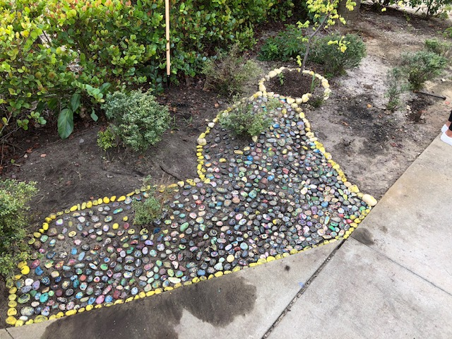 Rock garden re-done in honor of a student taken from us by cancer!!!